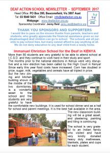 Deaf Action Newsletter Sept 2017